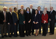 Meeting with Caroline Kennedy, Senator Lindsay Graham, Senator Chris Dodd, Senator Paul Kirk, Al Hunt of Bloomberg, and others at JFK Presidential Library