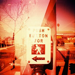 Caution (Whole Z) Tags: xpro lomography fuji cross mini velvia diana 100 processed