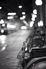 Streetphotography (akarakoc) Tags: light blackandwhite white black rain bike night canon lowlight vespa shot nightshot nacht bokeh low zurich 85mm tram rainy zrich f18 boke zuerich mark3 lwenplatz canonphotography nightphotohraphy 5dmarkiii mygearandme 5dmark3 rememberthatmomentlevel1 uploaded:by=flickrmobile flickriosapp:filter=nofilter