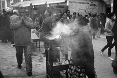 Pilgrims and devotee (azri zainul) Tags: nepal blackandwhite bw film monochrome analog canon mono kodak stupa rangefinder kathmandu himalaya rodinal canonet bnw himalayan nepali trix400 filmphotography blackandwhitefilm fixedlens canoncanonetql17giii kodak400tx streetshooting streetshoot boudhanathstupa ro9 azrizainul