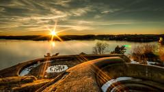 Odderøya mot Hannevika (Ingvald R Ingebretsen) Tags: vinter kristiansand solnedgang 2013 kilden fiskebrygga odderã¸ya