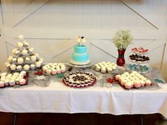 "cake table with cakeballs and cupcakes • <a style=""font-size:0.8em;"" href=""http://www.flickr.com/photos/60584691@N02/8546686963/"" target=""_blank"">View on Flickr</a>"