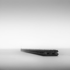 winter at Lake Biwa (StephenCairns) Tags: longexposure winter birds japan pier snowstorm    kohoku blackandwhitephotography  nagahama    lakebiwa neutraldensityfilter   stephencairns   leegraduatedfilters hitechprostopndfilters