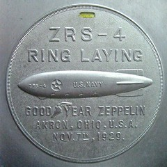 Souvenir of the Akron's Ring Laying (Smile Moon) Tags: ohio navy zeppelin ring souvenir airship memento goodyear akron dirigible 1929 laying rigid neam newenglandairmuseum zrs4 zeppelinology