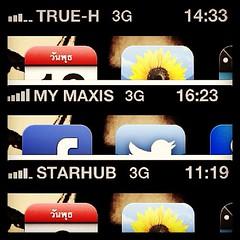 Truemove-H roaming at Malaysia & Singapore ใช้ 3G ได้ทั้ง2ประเทศนะ โทรไปถามศูนย์ทรูบอกว่าสิงคโปรstarhubไม่มี3G มีแต่ EDGE แต่เราใช้ได้ เอ๊ะ!ยังไง??? หรือTrue-Hไม่อัพเดตข้อมูล?? ตอนแรกแอบคิดหนักว่าจะโรมมิ่งในสิงคโปร์ดีมั๊ย แต่นึกๆดูstarhubน่ะเหรอจะไม่มี3G