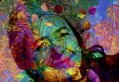 The Quintessential Question: Who is this I? (GangaSunshine) Tags: photomanipulation poetry digitalart inspired whoami lovesong rudolphvalentino bethechange pictureit digitalcanvas gangasunshine iamthat photooverlays prayerofstfrancis fusionpiece