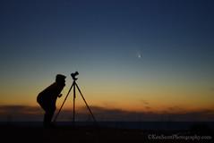 Comet Pan-Starrs ... 3-17-13 (Ken Scott) Tags: winter usa silhouette stars march twilight michigan lakemichigan greatlakes nightsky freshwater voted selfie leelanau kenscott 2013 cameraontripod sbdnl sleepingbeardunenationallakeshore mostbeautifulplaceinamerica cometpanstarrs kenscottphotography kenscottphotographycom