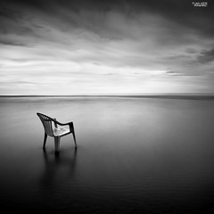 """Stand Alone"" (tuan azizi) Tags: longexposure white black contrast relax stand chair mood alone feel calm lee tranquil gnd09 bigstopper tuanaziziphotograhy"