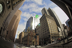 Day 10 (mikewilliamsonphotos) Tags: city blue building love boston clouds canon buildings timelapse downtown skyscrapers massachusetts awesome blues sigma east fisheye mass lapse eastcoast 10mm 60d