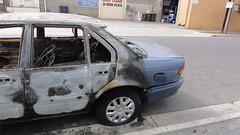 1995 Ford EF Falcon GLI (RS 1990) Tags: ford sign out fire march mar traffic parking richmond burnt falcon adelaide gli 1995 damaged mileend southaustralia destroyed cajun ef burned torched roasted toasted 2013 maintce