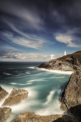 Trevose Headland (Martin Mattocks (mjm383)) Tags: ocean longexposure sky lighthouse seascape water clouds photography landscapes rocks cornwall surf martin coastline mattocks trevosehead canoneos5dmarkii distagon2128ze cornwalllandscapes mjm383 martinmattocksphotography