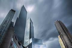 Time Warner Center (Tim Drivas) Tags: nyc newyorkcity longexposure skyline clouds canon day cityscape