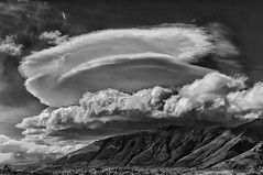 ETs are coming! (Daniel Schwabe) Tags: chile sky bw cloud patagonia mountain storm lenticularcloud puertonatales bestcapturesaoi elitegalleryaoi