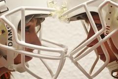 Man to man (or women to women :) (Mlys) Tags: sport grenoble football nikon women femme helmet casque feminin footus footballamericain d3100