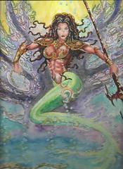 seaqueen (regina11163) Tags: mermaid queenofthesea dynamic unreal fantasy artreproduction fineart sexymermaid