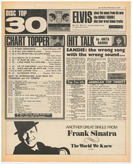 1967 pop charts (Retro King) Tags: 1967 august top30 pop charts summer records albums uk beatles doors elvis usa pink floyd psychedelic music press newspaper british swinging sixties