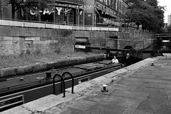 FX301763-1 (Lawrence Holmes.) Tags: fuji x30 canal canalst rochdalecanal barge narrow boat blackandwhite manchester uk lawrenceholmes