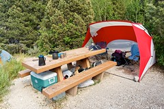 Great Basin National Park, Baker Creek Campground, Site 10 (darthjenni) Tags: basinandrangeprovince campsite greatbasindesert nationalparkservice nevada nps whitepinecounty baker california unitedstates us