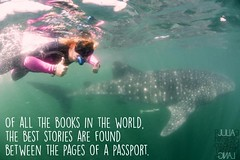 Travel quote (Garfield4989) Tags: travel traveller quote of all books world best stories found between pages passport