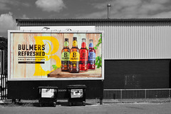 Buying cycle / Mitcham (Images George Rex) Tags: london merton uk mitcham bulmers advertisinghoarding cider recycling lightindustrial warehouse england photobygeorgerex unitedkingdom britain imagesgeorgerex billboard selectivecolour
