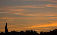 Spire and Chimneys (ArtGordon1) Tags: davegordon davidgordon daveartgordon davidagordon daveagordon artgordon1 london england uk summer walthamstow august 2016 sunset silhouette silhouettes