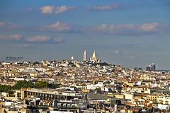 Paris Skyline (Wesam Alissa) Tags: 2016 france paris arcdetriomphe sacrcurbasilica basilicaofthesacredheart skyline skyview canon canon80d wesam wesamalissa parisskyline