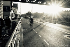 Streets of Dublin (Allette Snijder) Tags: dublin ireland georgesquay tarastreetstation streetphotography monochrome light backlight sun shadows travel