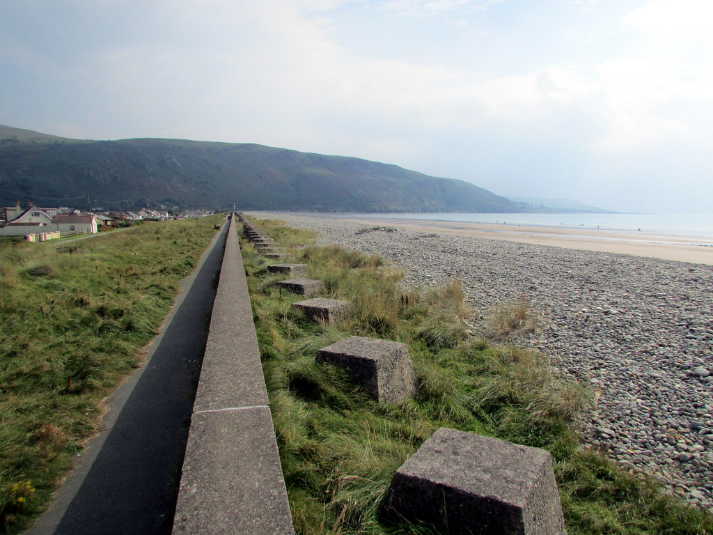 Fairbourne Beach with Tank Traps