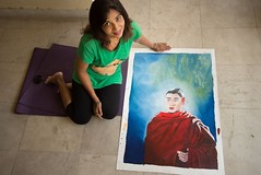 Monk2 (Smita S Chatterjee) Tags: oil painting paintings monk budhha prayer praying canvas ladakh meditation