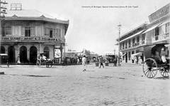Plaza Moraga - center of business, 1900-1902 (J. Tewell) Tags: oldpasigriverpasigriverdocks oldmanila oldphilippines plazamoragamanila