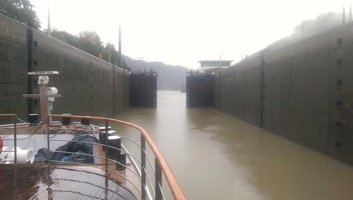 Lock doors opening, Germany/Austria border