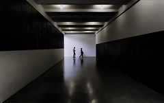 Dark Corridor (zuni48) Tags: hallway corridor topazsoftware ghostly architecture geometric silhouette museum diabeacon passage walls