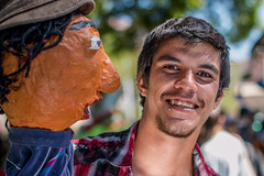 100 Strangers | 94: Will (Facundity) Tags: 100strangers thehumanfamily streetphotography strangerportrait portrait outdoorportrait offcenterfolkartfestival albuquirky albuquerque newmexico canoneos70d reflector puppet papermache papiermch 94100