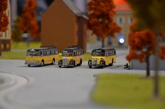 My little world II (Miki216) Tags: vienna wien exhibition trains model kits bus buses history vintage dof depthoffield building tree bike yellow black transoprt