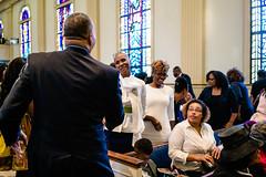 Spring Into Praise-56 (Atlanta Berean Church - photos.atlantaberean.com) Tags: greeting hug man smile welcome woman