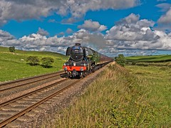 "LNER A3 Class 4-6-2 No 60103 Flying Scotsman in charge of ""The Waverly"" on the outward leg at Gilsland on the Newcastle to Carlisle Line (penlea1954) Tags: lner a3 class 462 no 60103 flying scotsman the waverley newcastle carlisle line uk steam railway england outdoor railroad vehicle ner northumberland trains train transport rail locomotive locomotives loco engine pacific sir nigel gresley brampton"
