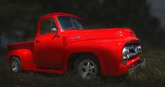 Ford Pick Up (ellen-ow) Tags: amicar auto automarken farbig ford hotrods kustomkulture oldtimer pickup rot verkehr car