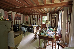 Tribute to a French Writer. Maurice Pons' Workshop at the Moulin d'And. (Margnac) Tags: margnac jeanpaul crivain writer novelist mauricepons rip inmemoriam tribute hommage moulindand atelier bureau workshop normandie france