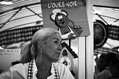 Lets Eat, Have Fun, And Celebrate! (Gilles,Gilles,Lemonpeel) Tags: foirestgilles elbeuf loursnoir portrait blackwhite bw nikon rawtherapee gimp