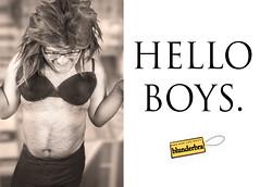 Hello Boys (Stewart Black) Tags: wah advert bra subvert werehere