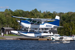 Private (BHA Leasing) Cessna A185F Skywagon N85AJ (jbp274) Tags: 52b greenvilleseaplaneflyin greenville mooseheadlake flyin seaplane airplanes lake water cessna c185 skywagon floatplane