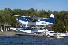 Private (BHA Leasing) Cessna A185F Skywagon N85AJ (jbp274) Tags: 52b greenvilleseaplaneflyin greenville mooseheadlake flyin seaplane airplanes lake water cessna c185 skywagon floatplane