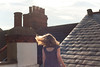 Day 200, Year 9. (evilibby) Tags: 365 3659 365days 365days9 libby roofterrace summer sunshine outside outdoors roof rooftop chimney chimneys hairtoss hairflip blonde polkadots