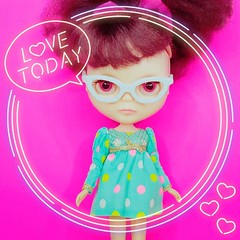 Anouk delivers her daily wisdom  (endangeredsissy) Tags: uploaded:by=instagram blythe blythedoll 365blythe kennerblythe endangeredsissy handmade dollclothes blytheclothes cute