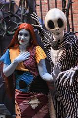 Sally & Jack Skellington (looseey) Tags: halloweentime jackskellington sally neworleanssquare nightmarebeforechristmas