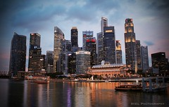Marina Bay (Miel Photopgraphy) Tags: sunset skyscappers cbd businessdistrict downtown rafflessplace marinabay singapore asia canoneos70d leefilters ndhardgrad