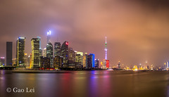 Lujiazui at night (Fred-Gao) Tags: city lujiazui pudong architecture building thebund light night sunset shanghai china 2016