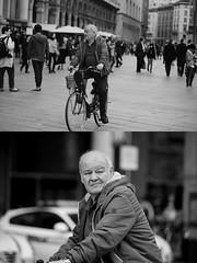 [La Mia Citt][Pedala] (Urca) Tags: milano italia 2016 bicicletta pedalare ciclista ritrattostradale portrait dittico bike bicycle nikondigitale mir biancoenero blackandwhite bn bw nn 89153