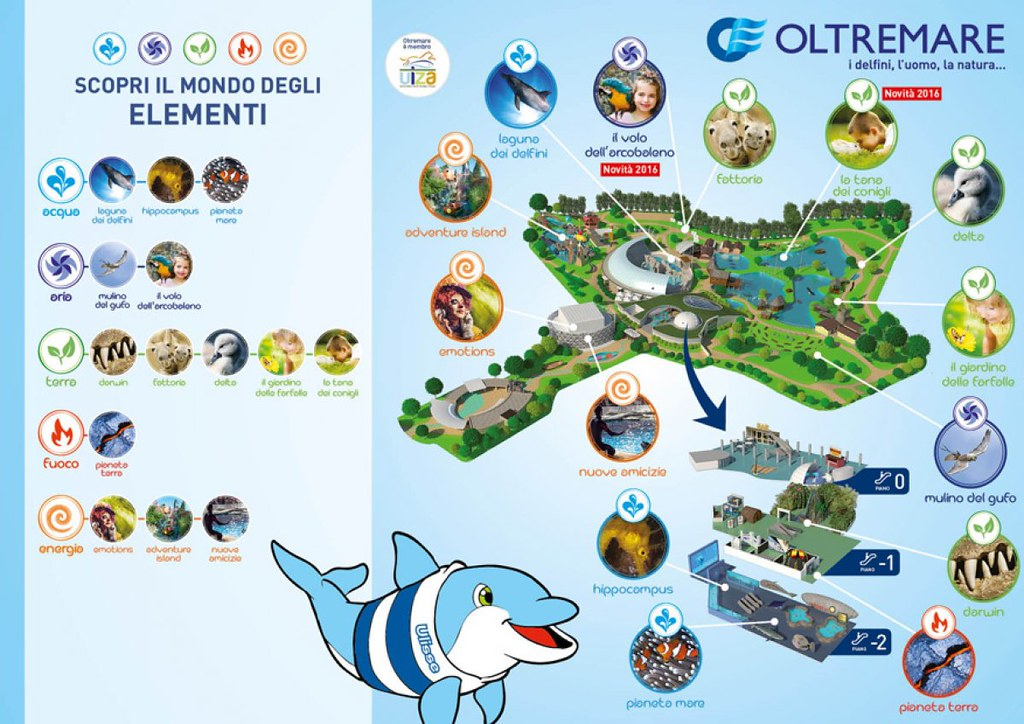 Mappa del parco Oltremare