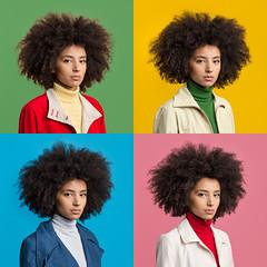 Natasha (J Trav) Tags: portrait square color hair green yellow blue pink turtleneck itshiptobesquare 500x500